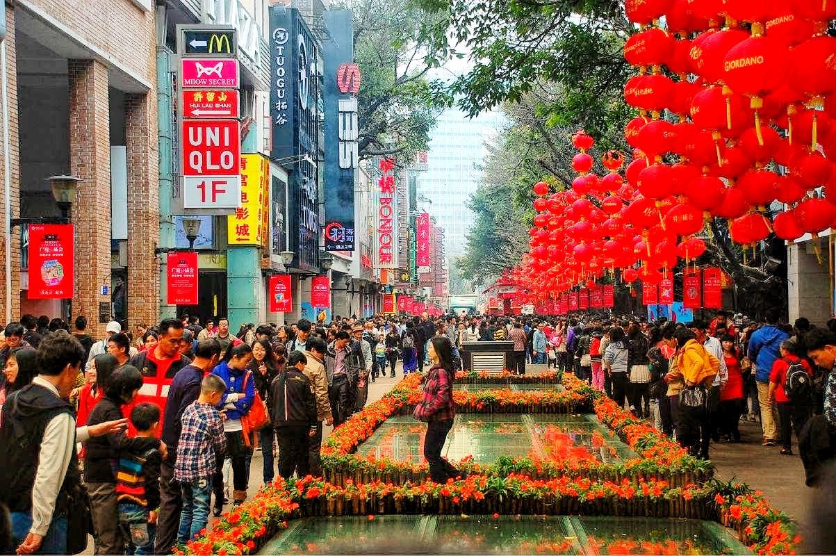 Beijing Road, oldest walking & shopping street