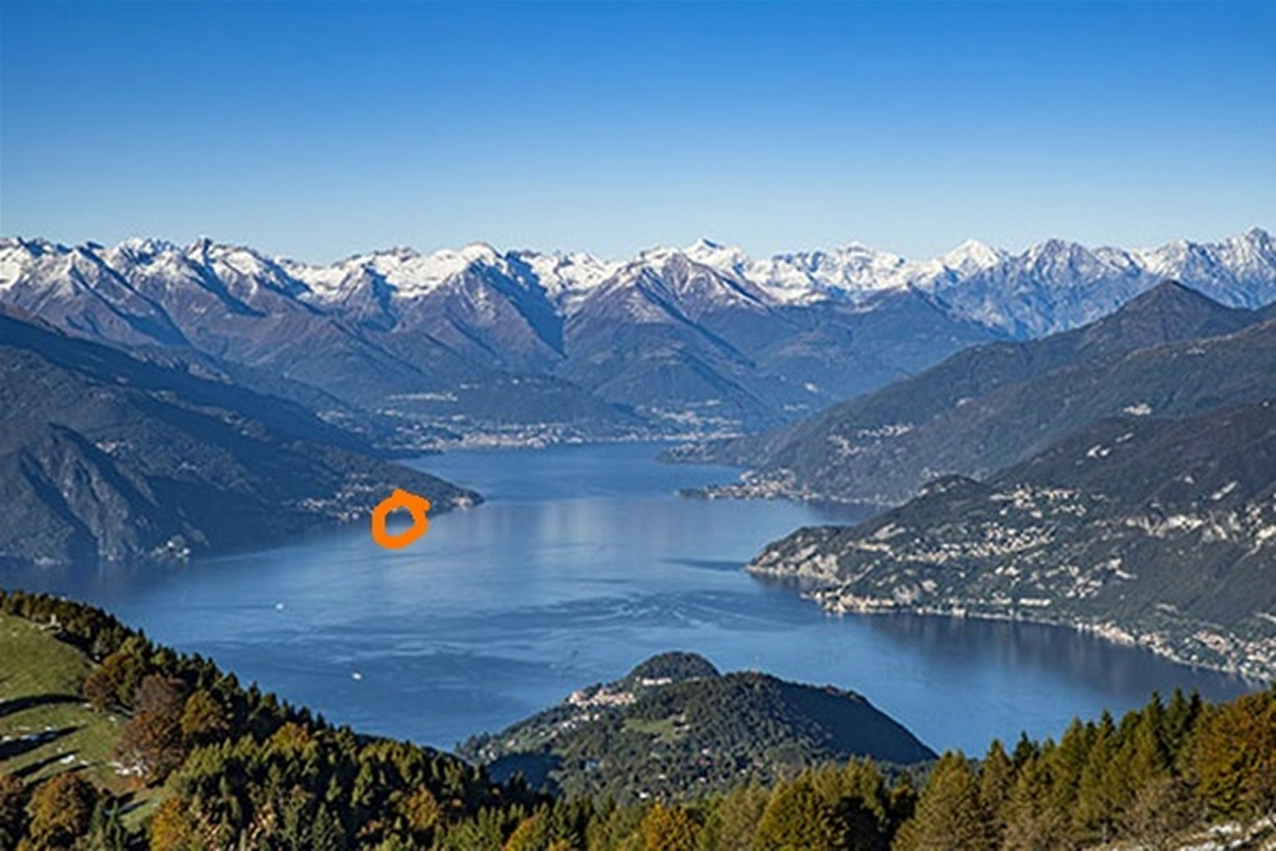 Bird's View of the central part of the Lago di Como