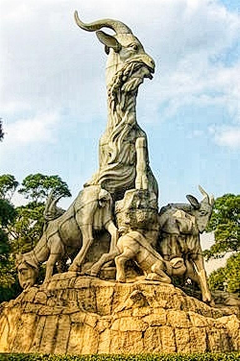 Yuexiu Park: Five Rams (5 Gods helping to found GZ)