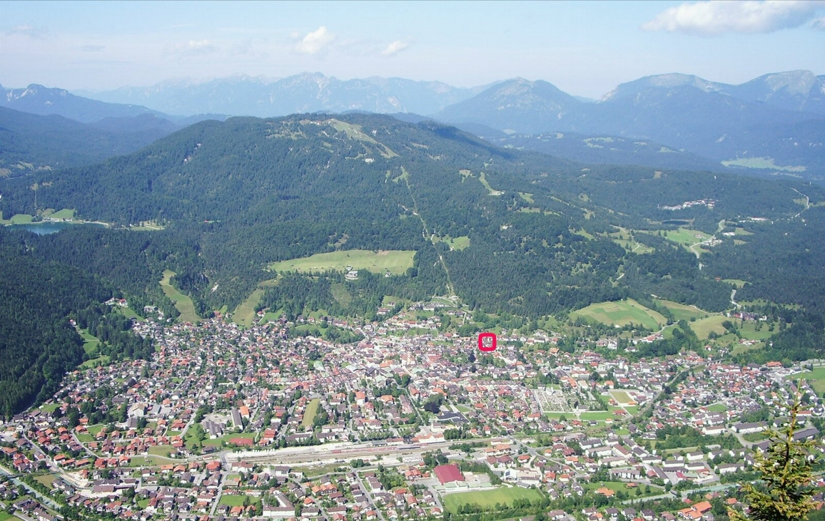 Our location, near to Mittenwald Center AND near to Kranzberg Hiking\ Skiing