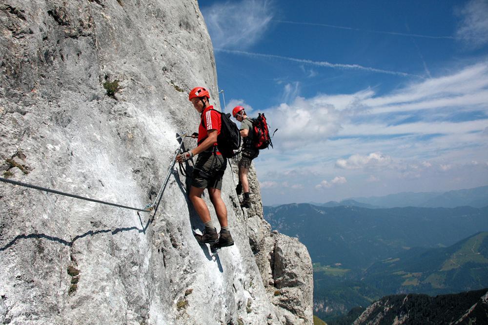 Karwendel-Klettersteig: NUR für GEÜBTE!