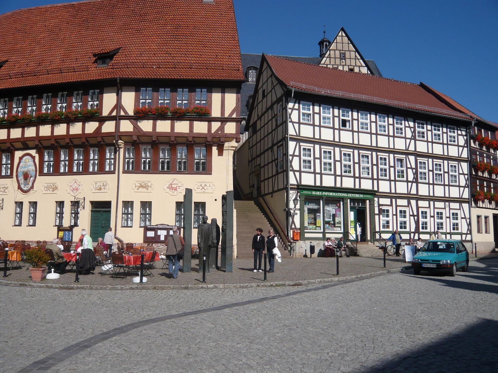 Stolberg mit vielen Fachwerkhäusern