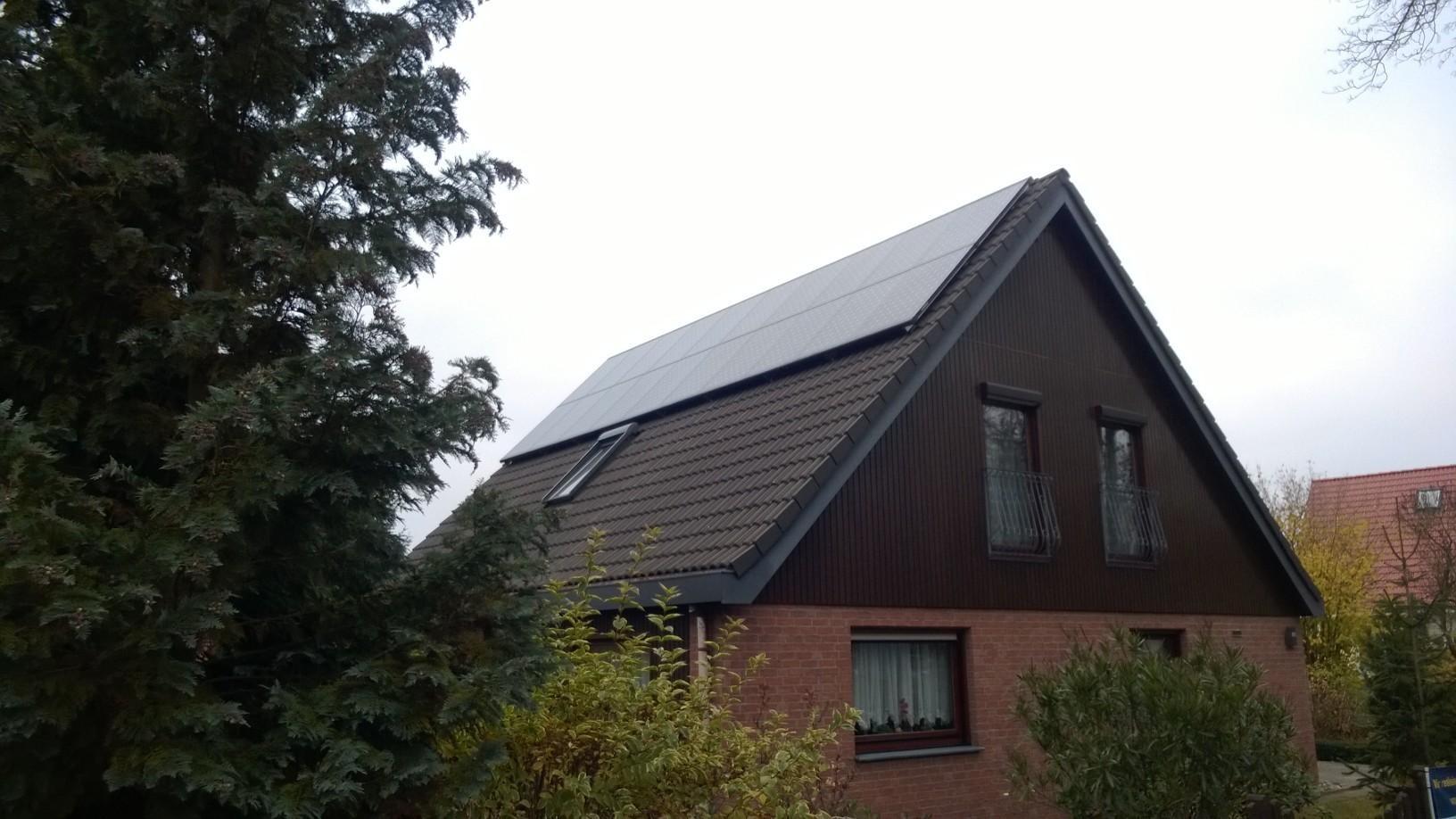 6,54 Sunpower mit Solaredge Wechselrichter in Panketal bei Berlin