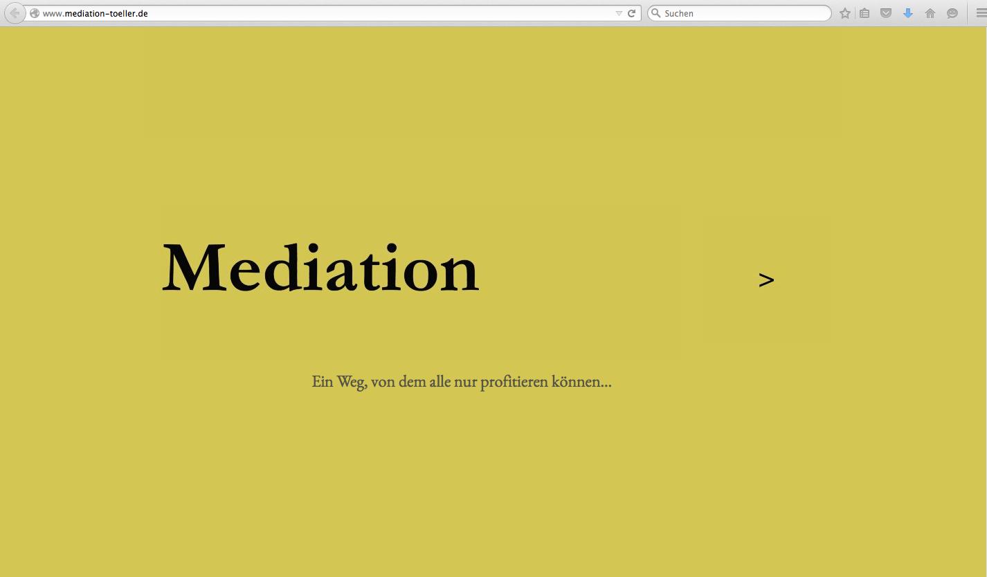 Freiberufler-Website für die Mediatorin Dr. Ursula Töller