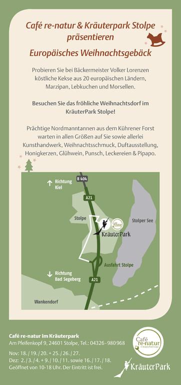 Rückseite Weihnachts-Flyer 2011 für Café re-natur