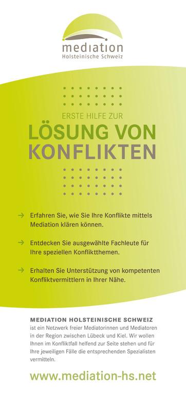 Vorderseite Flyer Mediation Holsteinische Schweiz 2012