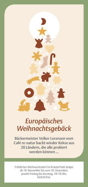 Vorderseite Weihnachts-Flyer 2011 für Café re-natur