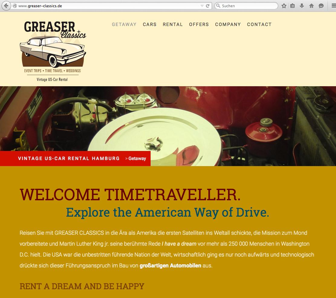 Firmen-Website für GREASER CLASSICS oHG