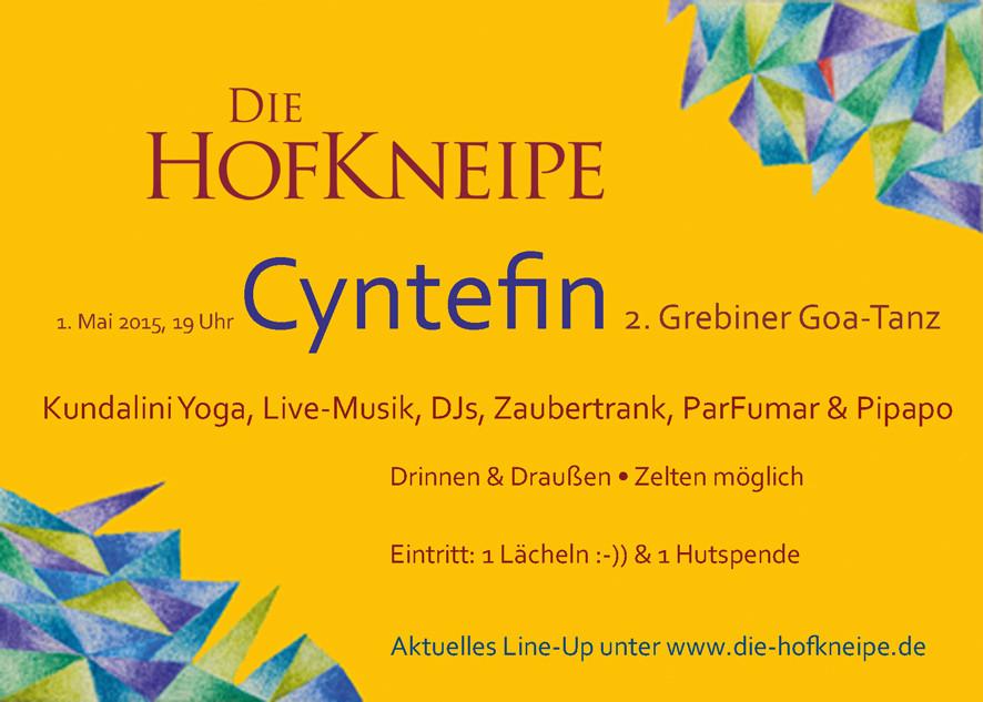 Rückseite für Veranstaltung Cyntefin