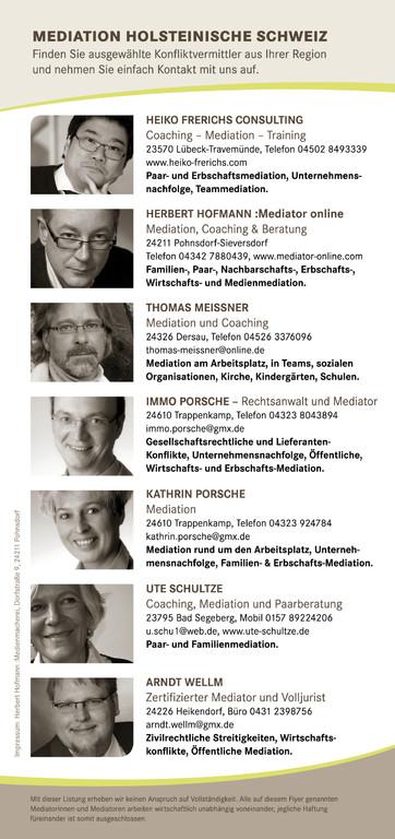 Rückseite Flyer Mediation Holsteinische Schweiz 2012