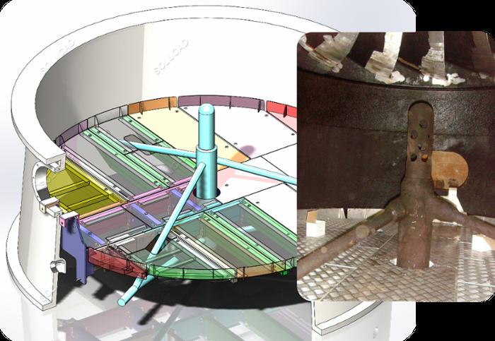 Plancher de visite turbine Francis