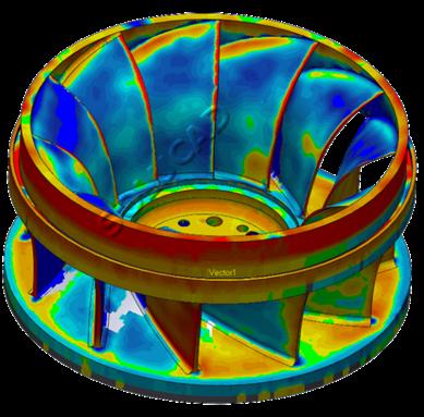 Scan 3D et inspection roue Francis