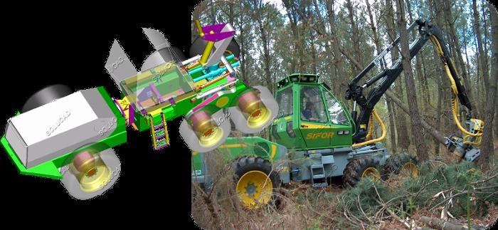 Véhicules spéciaux - Machine d'abattage forestier
