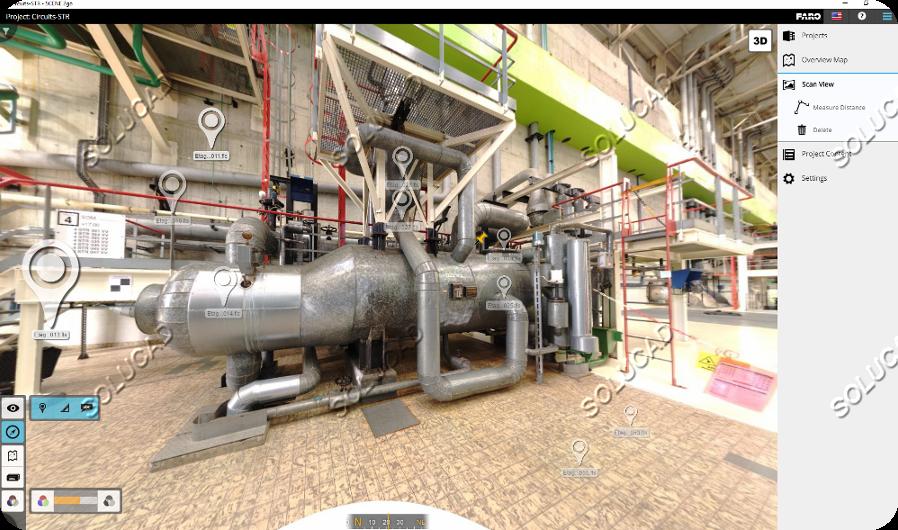 Visite virtuelle 360° immersive dans FARO SCENE 2GO