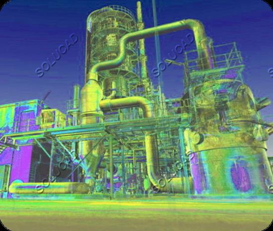 Scan laser 3D Usine pétrochimique