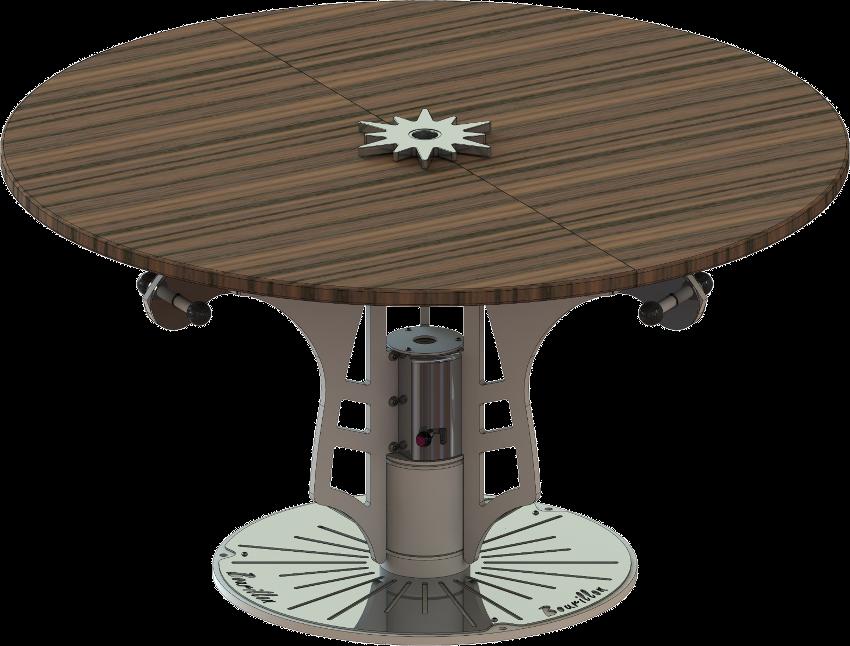 Table manège en configuration repas