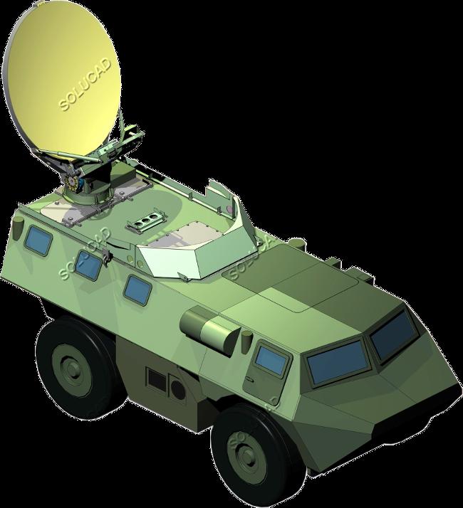 Télétransmissions - Antenne embarquée sur véhicules militaires VAB