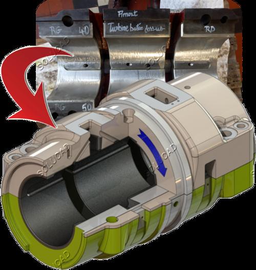 Scan 3D et modélisation palier turbine