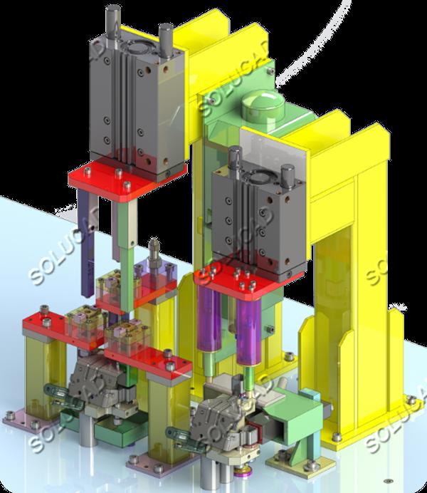 Industrie automobile : Poste de montage silent-blocs