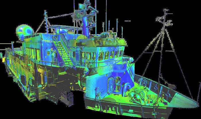 Scan laser 3D Bateau