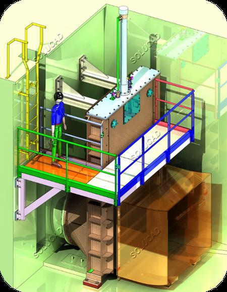 Vanne de vidange barrage - CAO 3D