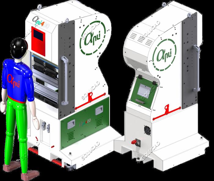 Presse plieuse électrique 10 tonnes - 400 mm