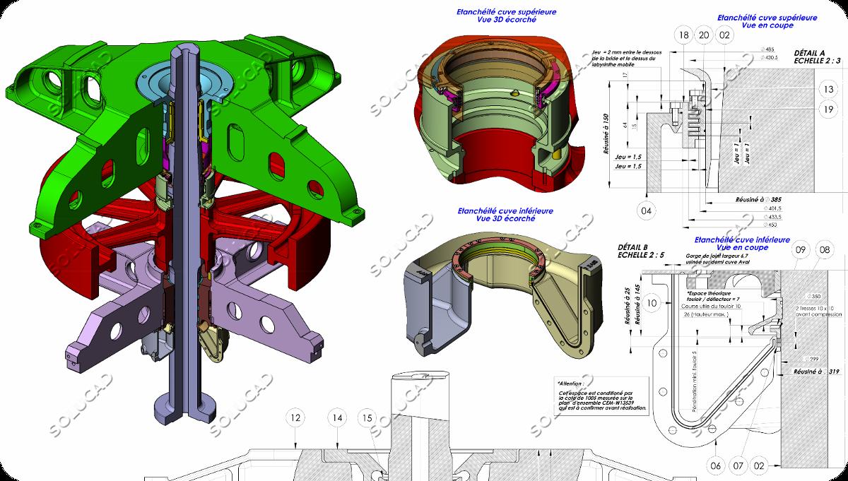 Cuves paliers alternateur - Optimisation étanchéité