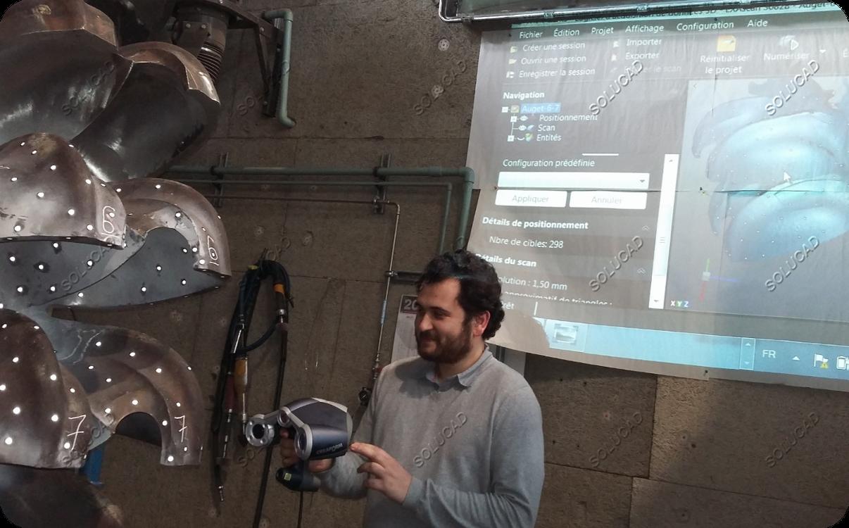 Scan 3D roue Pelton