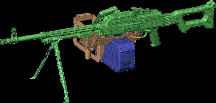 Scan 3D fusil-mitrailleur
