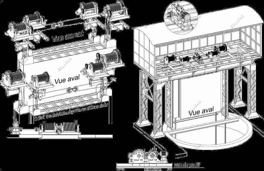 Treuils de vanne - Etude et dimensionnement remplacement