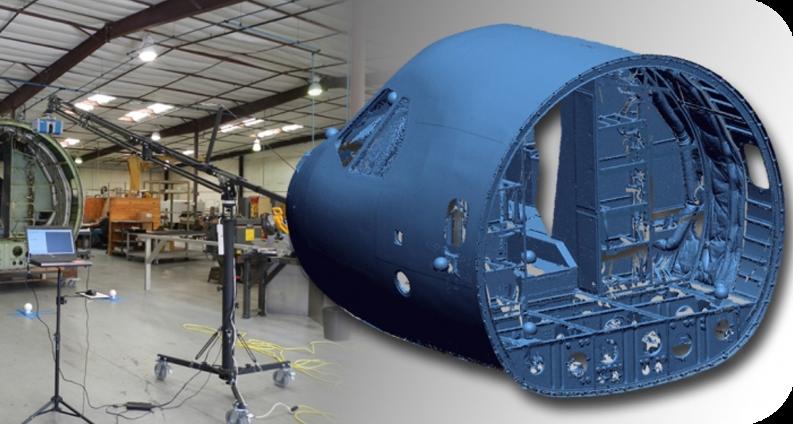 Relevés laser 3D cockpit avion
