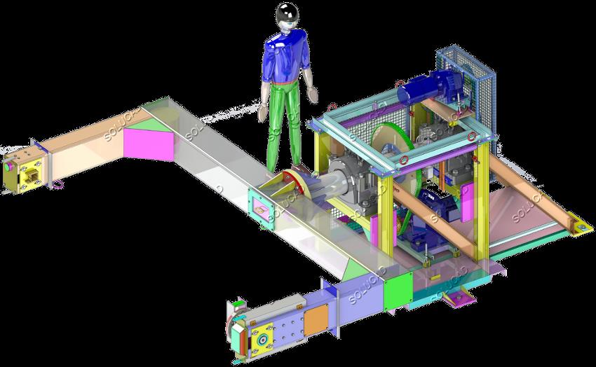 Machine de rotomoulage - Rétro-ingénierie