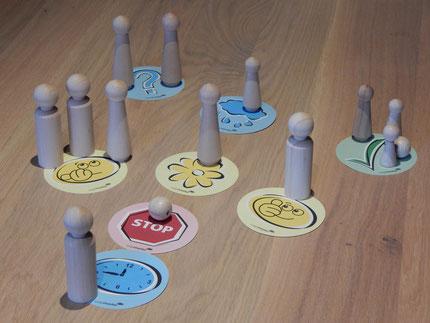 Beispielsweise kann eine Teamaufstellung zu einem bestimmten Thema Gruppen- und Meinungsbilder verdeutlichen oder Differenzen und Beziehungen offen legen.