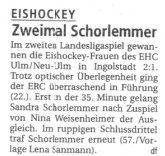 Der EHC Ulm / Neu-Ulm in der SWP