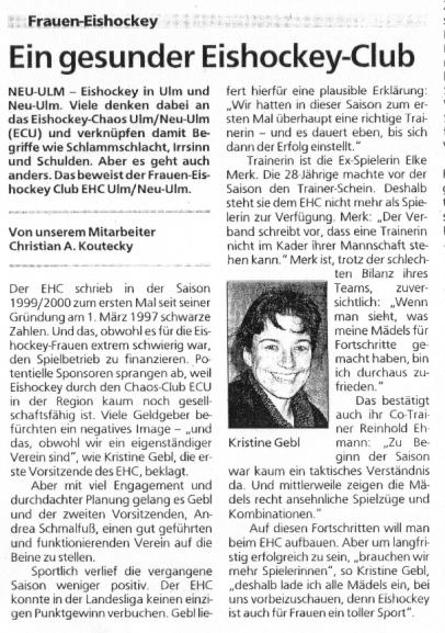 Frauen-Eishockey EHC Ulm / Neu-Ulm e.V.