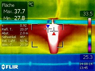 Abnahme und Überprüfung der Isolierung mit Thermokamera