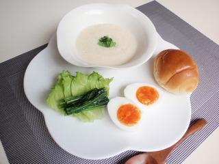 朝食メニューかぶのスープ