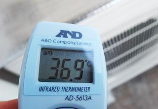 カバーをした後の温度