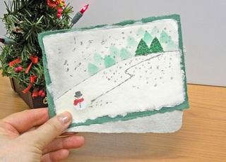 クリスマスカード緑