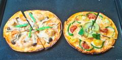 干し野菜のピザ 3(野菜入り+エビ入り)