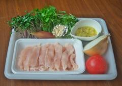 薄切り鶏焼きスプラウトサラダ 材料