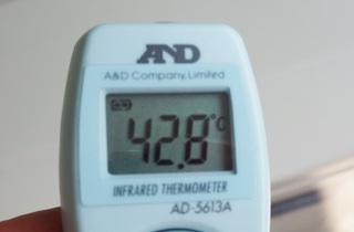 カバーをする前の温度