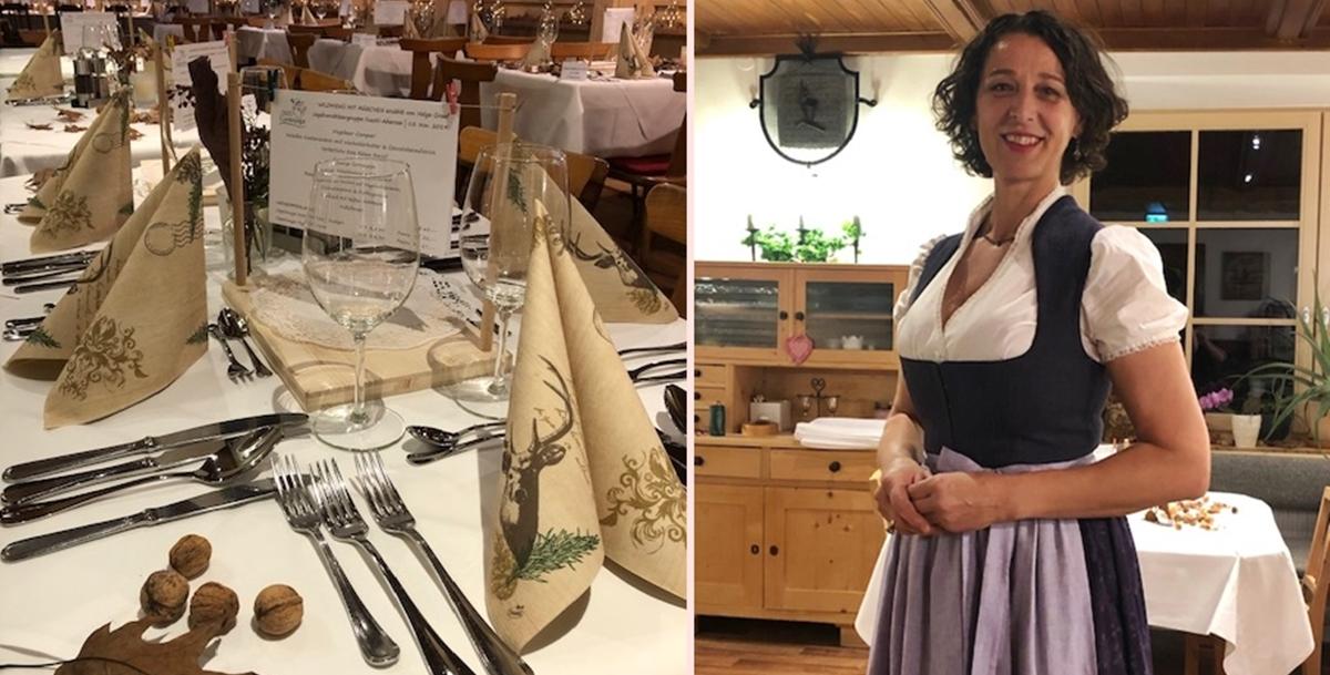 Gedeckter Tisch - bereit für's Wildemenü