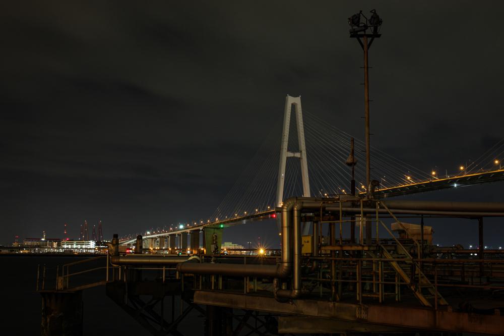 """名港中央大橋  CanonEOS 5Dmk2  Sigma50mmF1.4 EX DG  iso100 50mm f8 30"""" M  photo : toshimasa"""