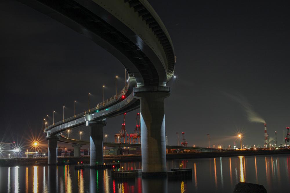 """四日市いなばポートライン  CanonEOS 5Dmk2  Sigma50mmf1.4EX DG  iso100 50mm f10 30"""" M  photo: toshimasa"""