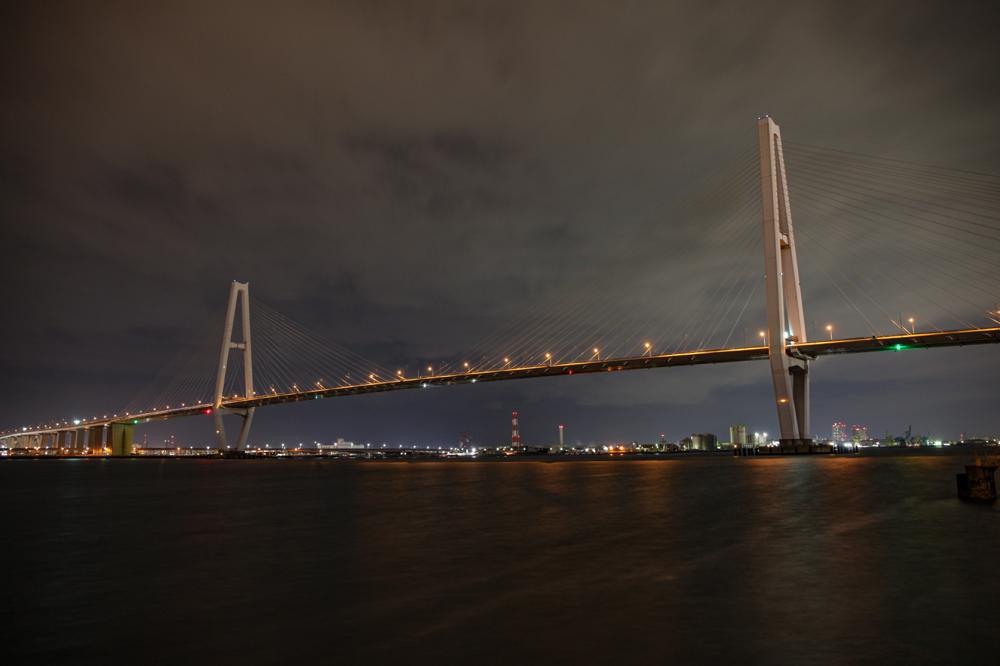 """名港中央大橋  CanonEOS 5Dmk2  CanonEF24-70mmF4L  iso100 24mm f18 13"""" M  photo: toshimasa"""