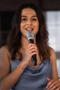 Moderatorin Alessandra Viesti