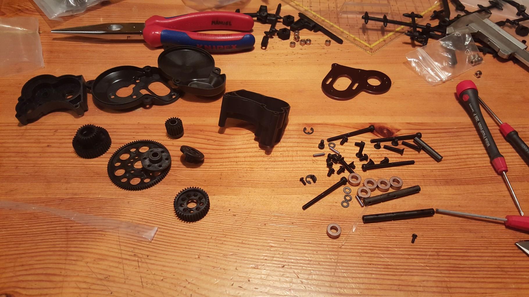 MST CMX - Aufbau des Getriebes