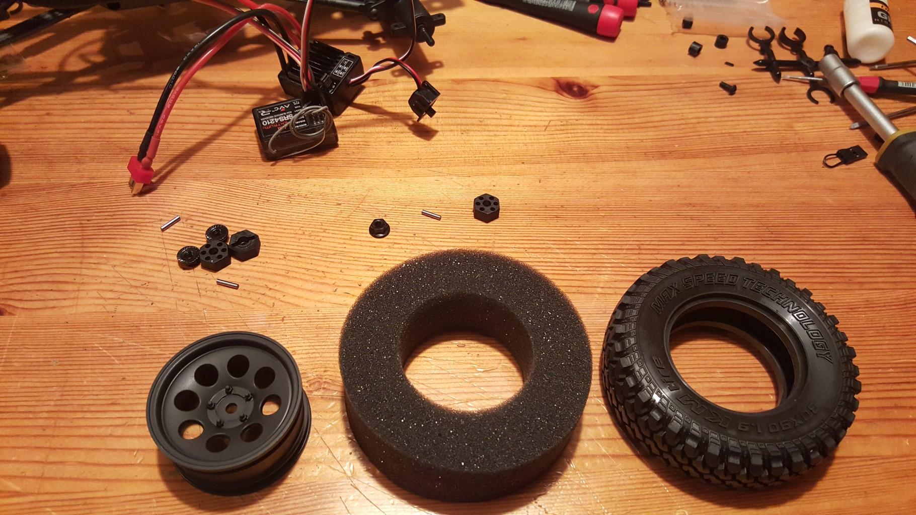 MST CMX - Aufbau der Reifen