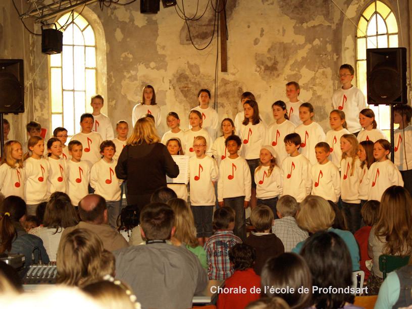 Chorale de l'école de Profondsart